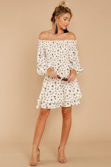 4 For The Twirl Of It White Print Dress at reddressboutique.com