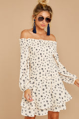 6 For The Twirl Of It White Print Dress at reddressboutique.com