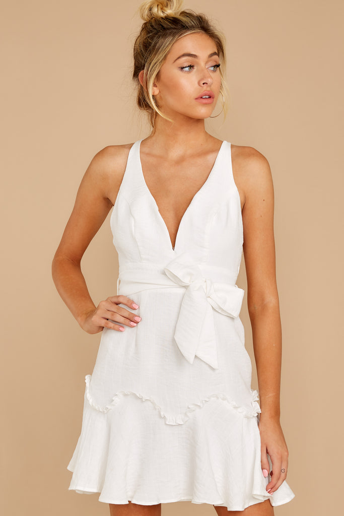 6 Vivid Moment White Lace Dress at reddressboutique.com