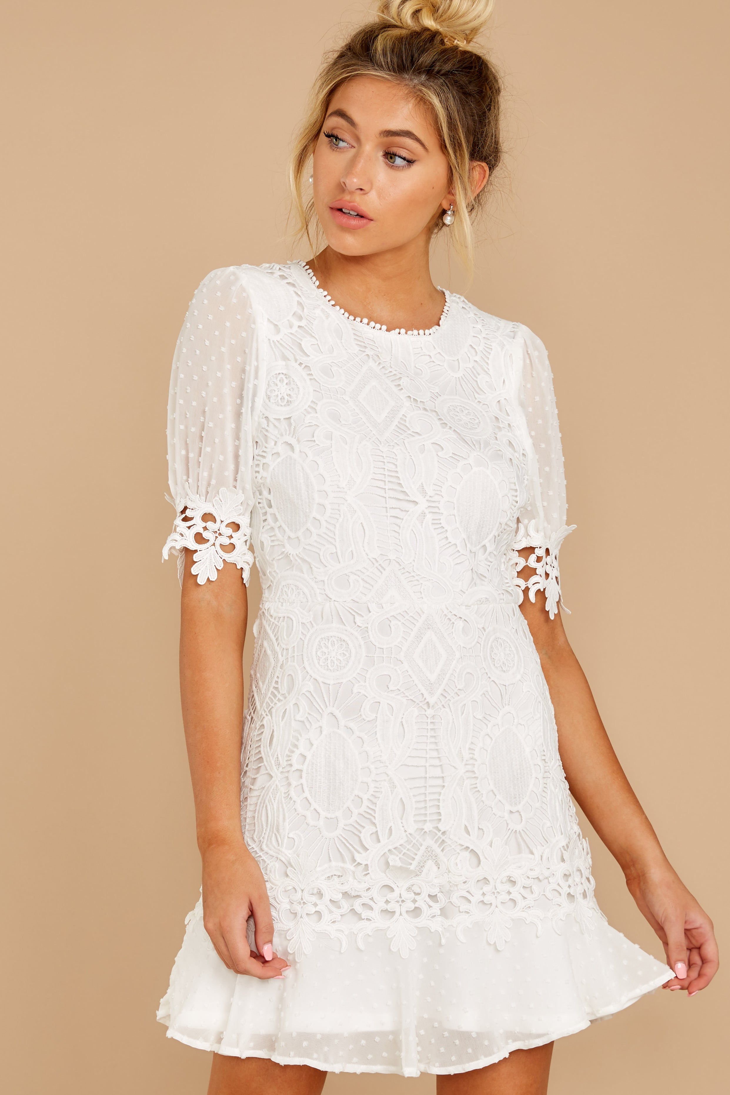 1 Picture This Moment White Eyelet Dress at reddressboutique.com