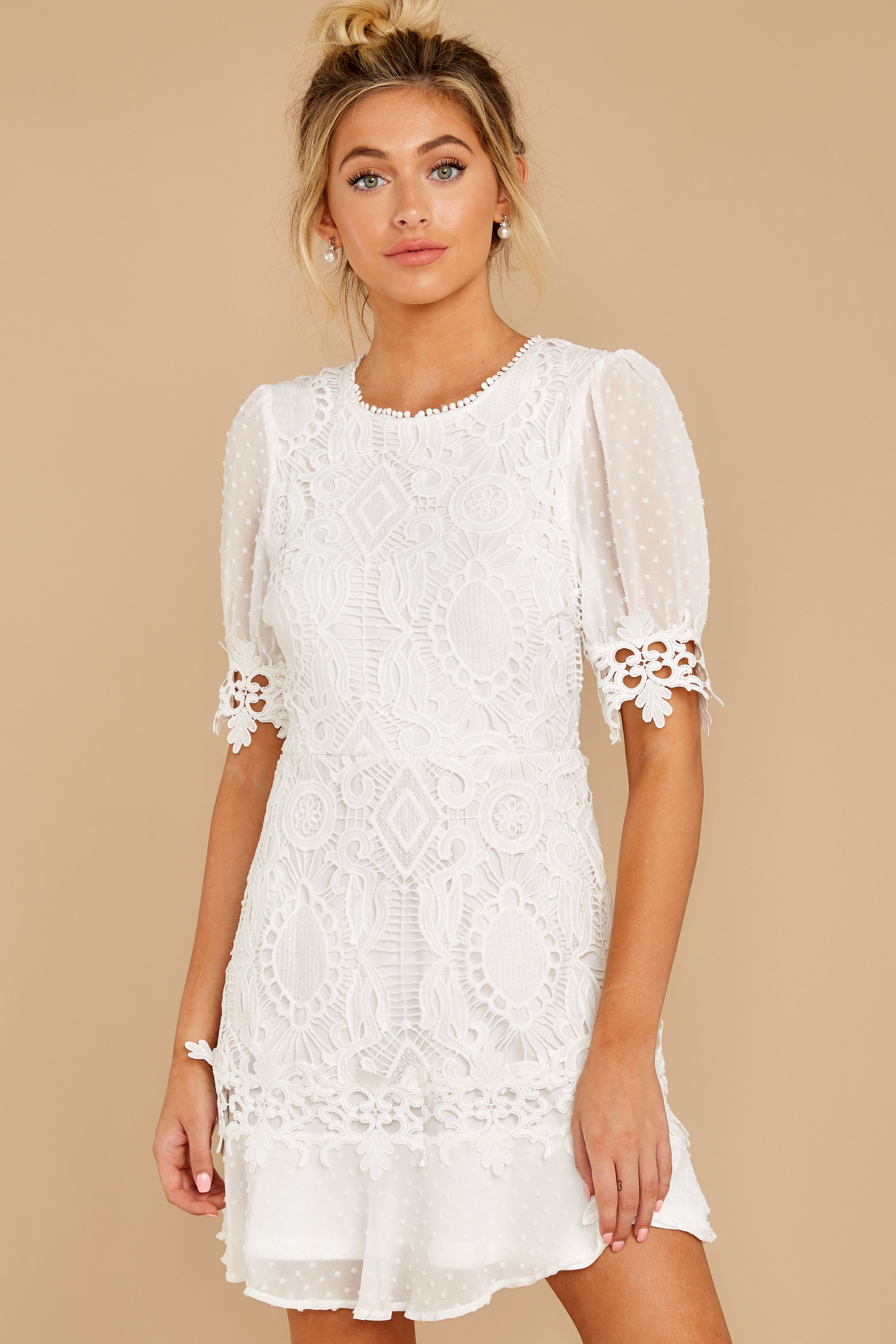 5 Picture This Moment White Eyelet Dress at reddressboutique.com