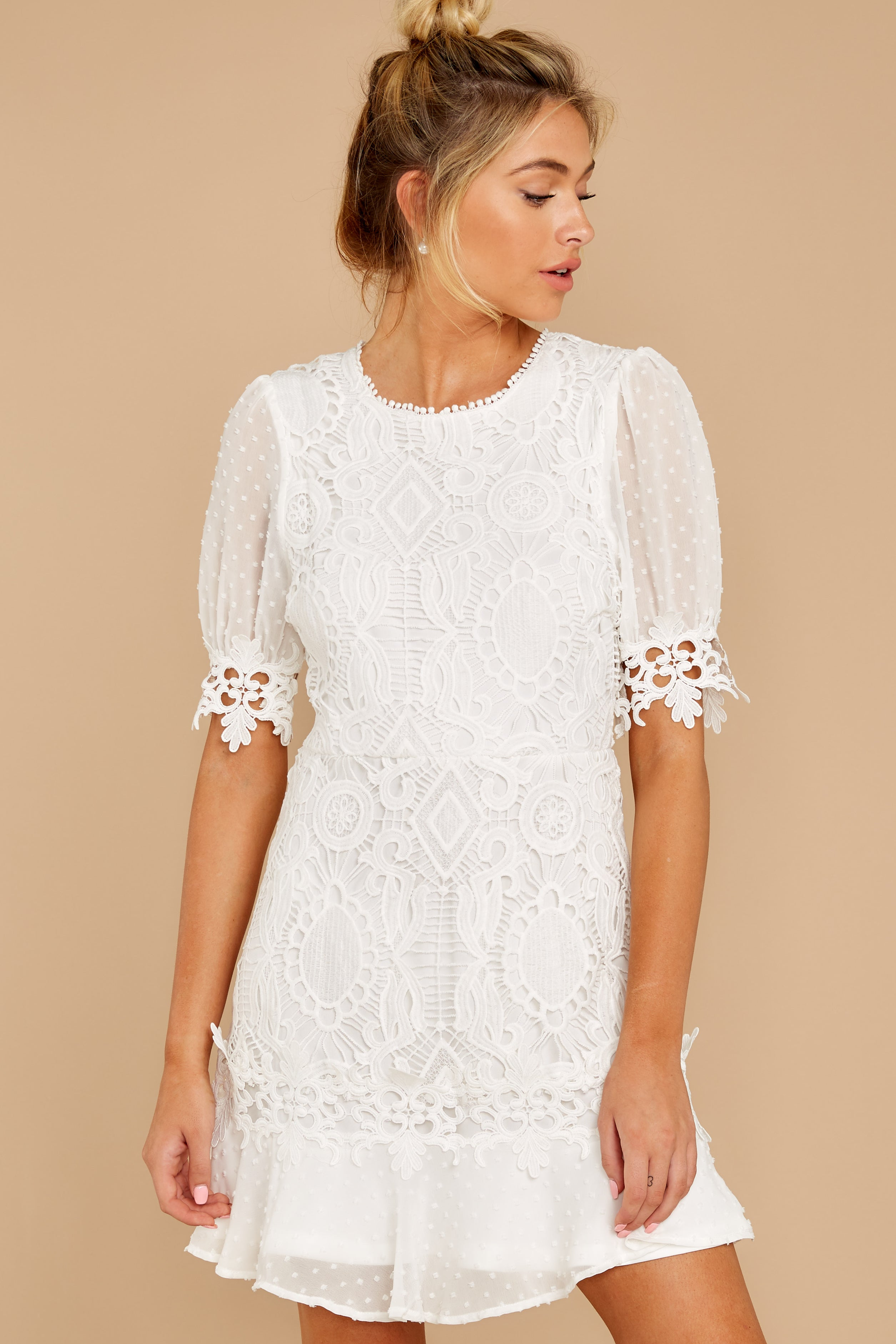 6 Picture This Moment White Eyelet Dress at reddressboutique.com