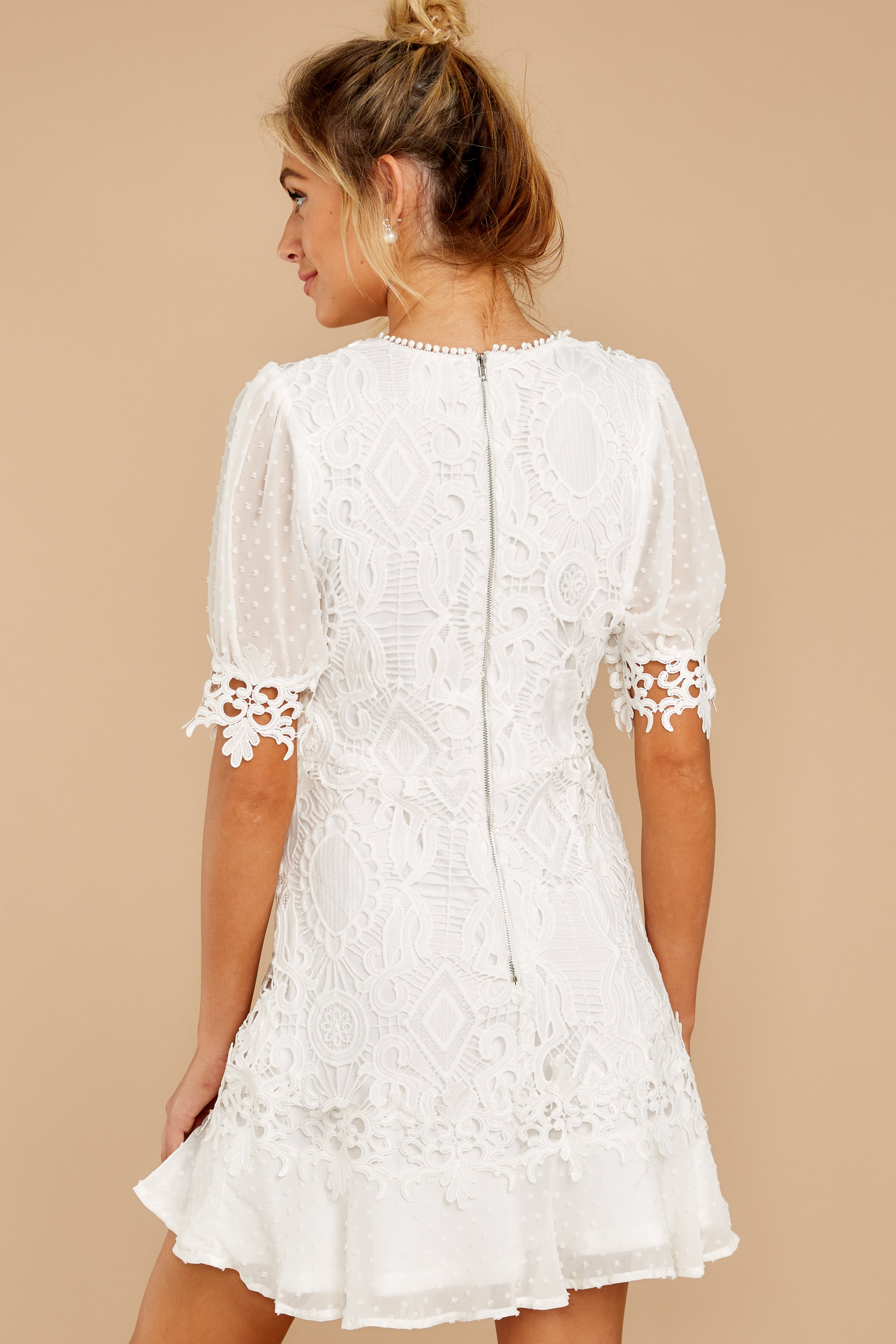 7 Picture This Moment White Eyelet Dress at reddressboutique.com