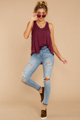 5 The Mauve Wine Vagabond Tank at reddressboutique.com