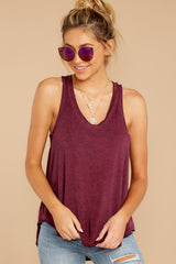 3 The Mauve Wine Vagabond Tank at reddressboutique.com