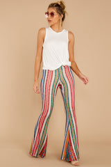 Come Through Rainbow Multi Print Pants