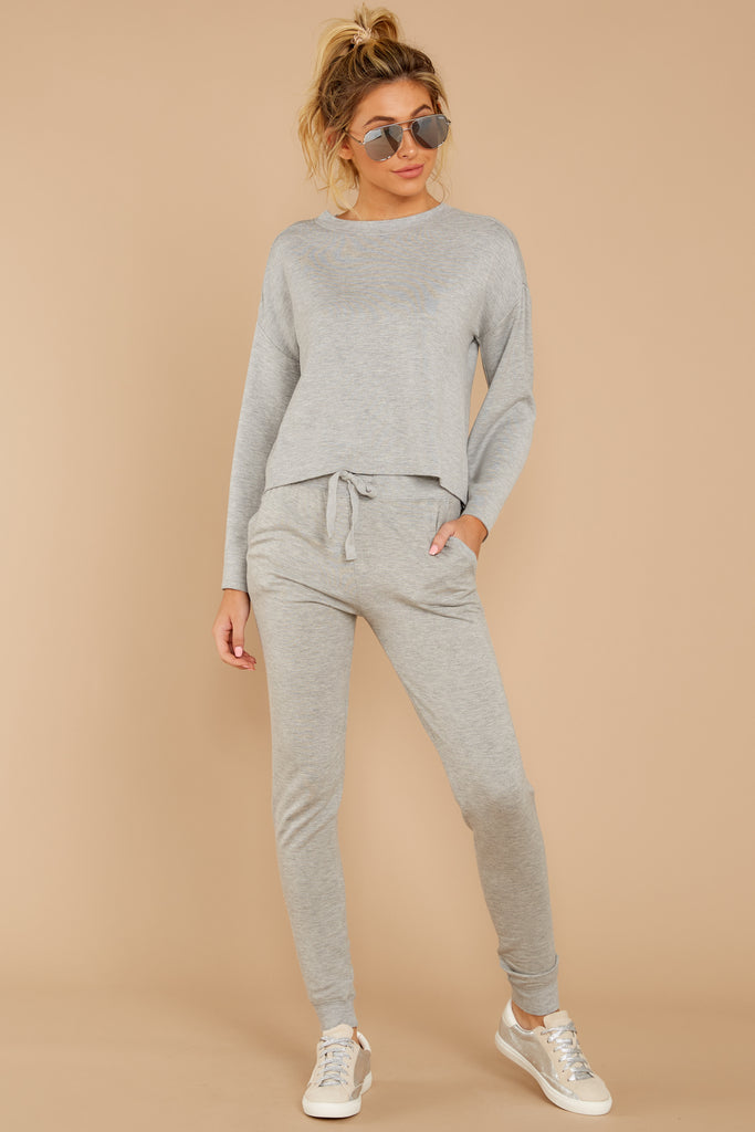 1 The Heather Grey Triblend Vacay Pullover at reddressboutique.com