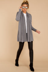 3 Get Closer Charcoal Grey Cardigan at reddressboutique.com