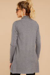 7 Get Closer Charcoal Grey Cardigan at reddressboutique.com