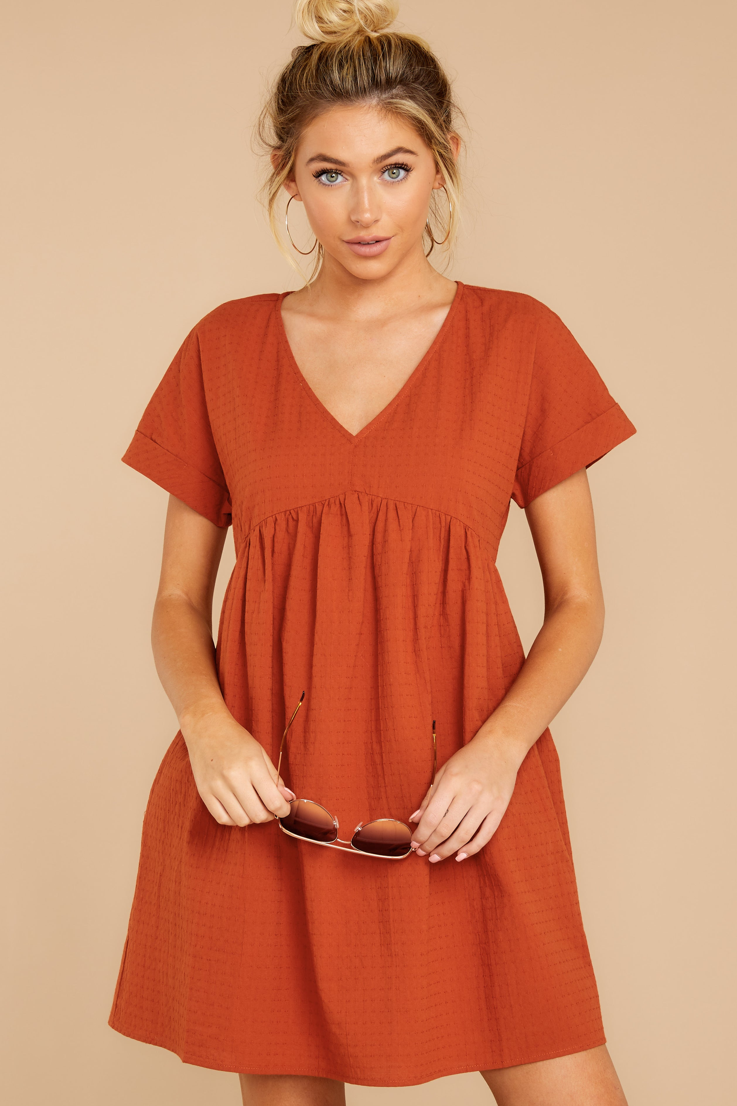 6 From Your Dreams Rust Orange Dress at reddressboutique.com