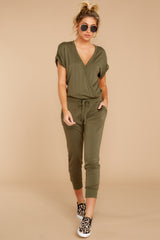 1 The Leaf Clover Wrap Front Jumpsuit at reddressboutique.com