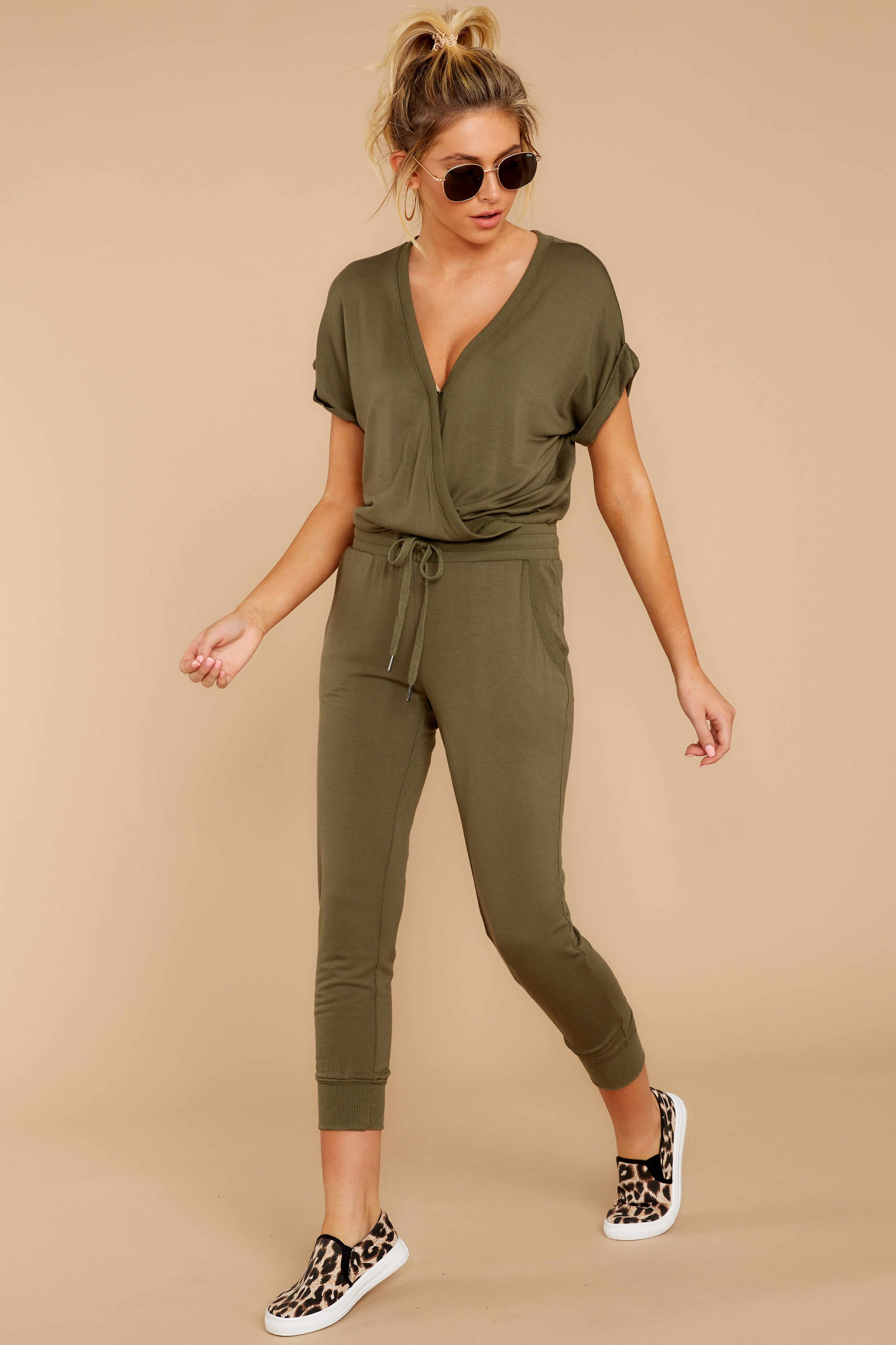 2 The Leaf Clover Wrap Front Jumpsuit at reddressboutique.com