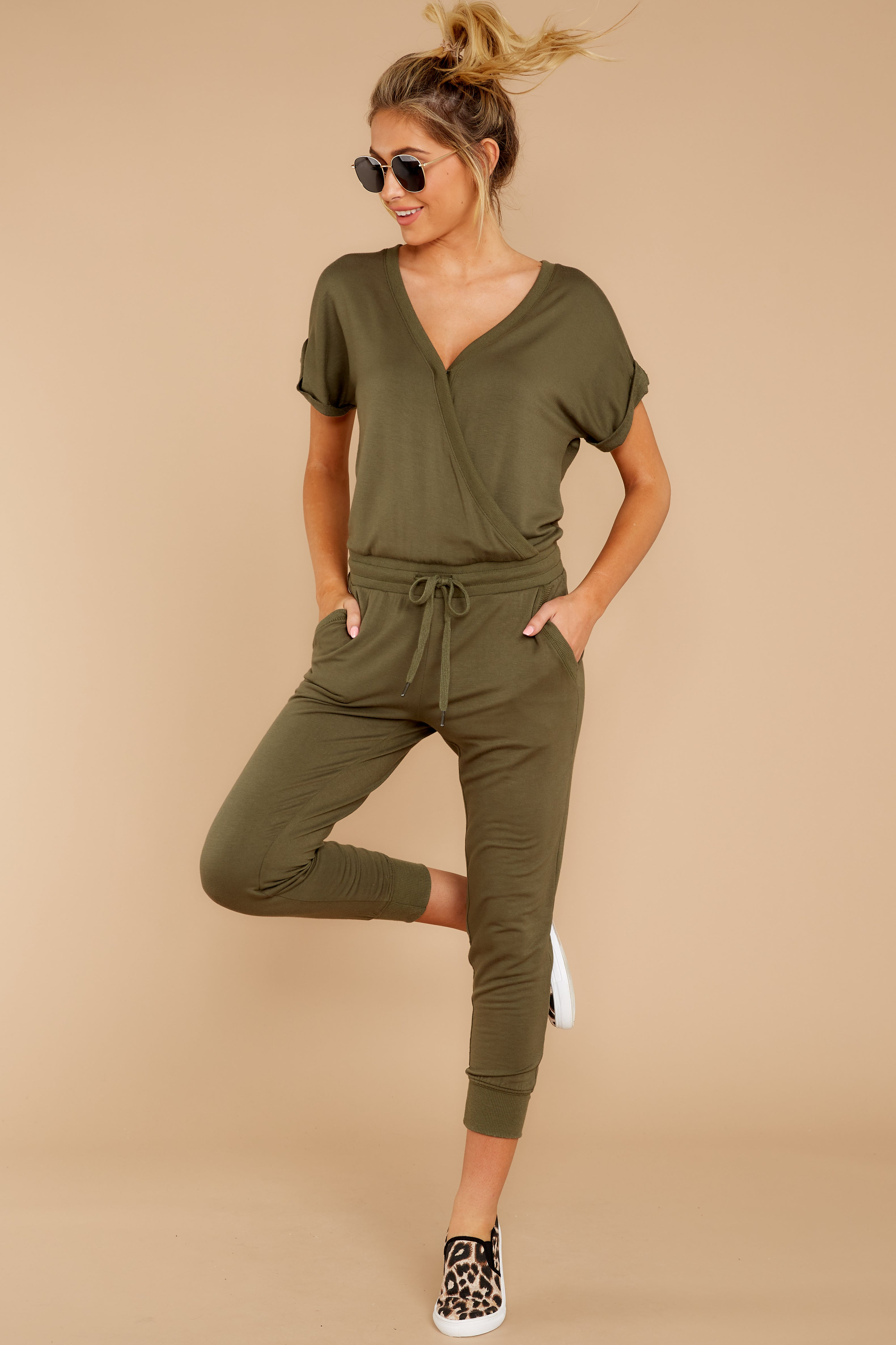 3 The Leaf Clover Wrap Front Jumpsuit at reddressboutique.com