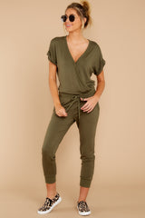 5 The Leaf Clover Wrap Front Jumpsuit at reddressboutique.com