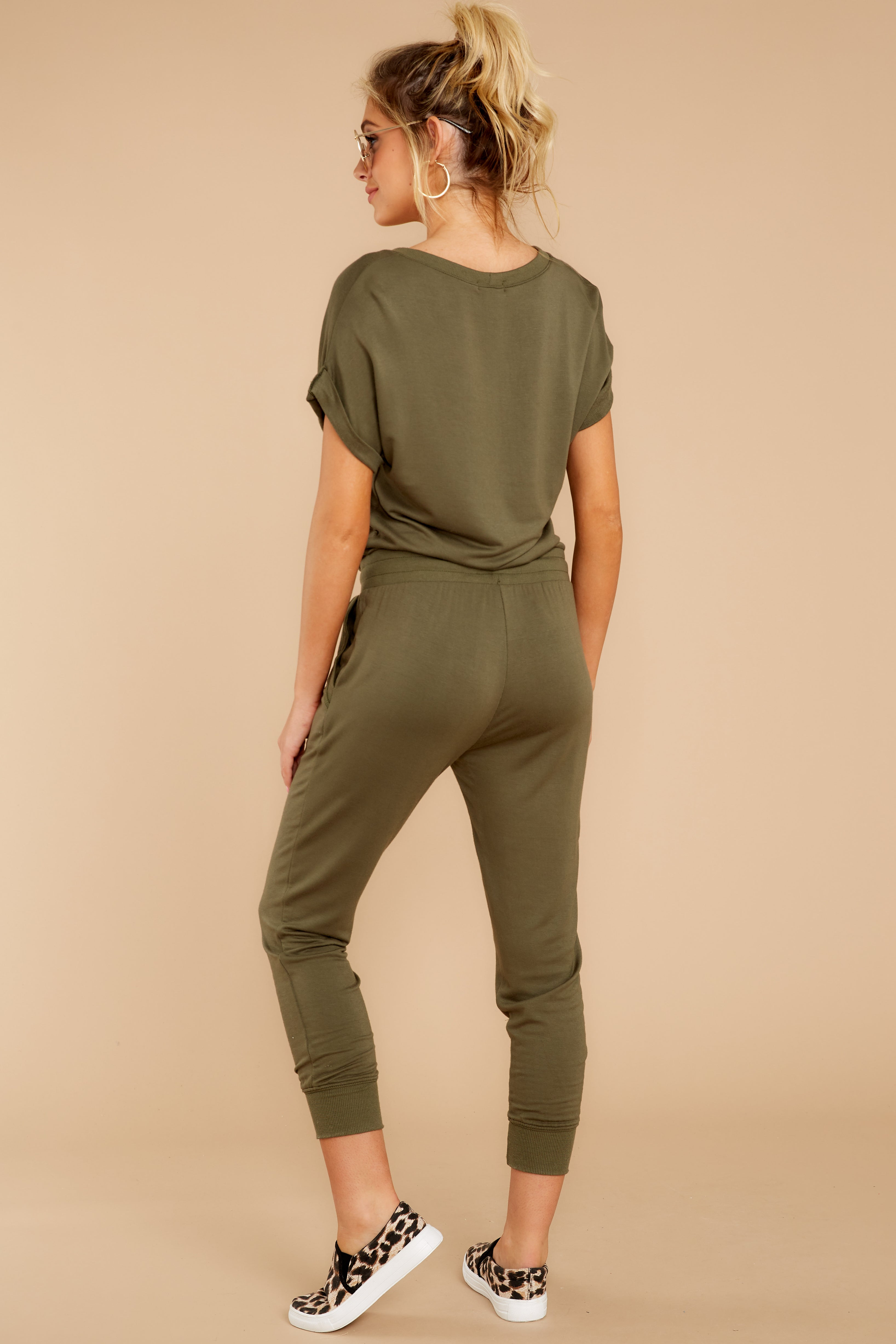 6 The Leaf Clover Wrap Front Jumpsuit at reddressboutique.com