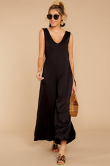 2 Lessons In Luxe Black Jumpsuit at reddressboutique.com