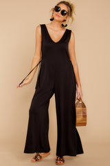 3 Lessons In Luxe Black Jumpsuit at reddressboutique.com