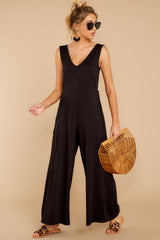 4 Lessons In Luxe Black Jumpsuit at reddressboutique.com