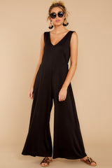 6 Lessons In Luxe Black Jumpsuit at reddressboutique.com