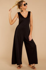 7 Lessons In Luxe Black Jumpsuit at reddressboutique.com