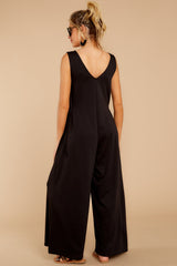 8 Lessons In Luxe Black Jumpsuit at reddressboutique.com