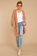 2 Comfort Basis Light Clay Cardigan at reddressboutique.com