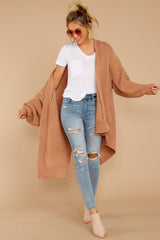 3 Comfort Basis Light Clay Cardigan at reddressboutique.com