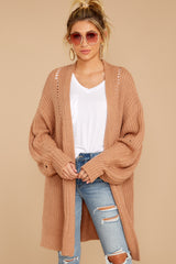 4 Comfort Basis Light Clay Cardigan at reddressboutique.com