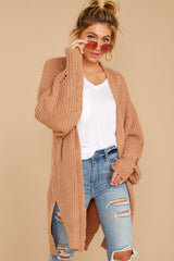 5 Comfort Basis Light Clay Cardigan at reddressboutique.com