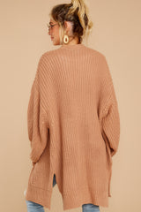 6 Comfort Basis Light Clay Cardigan at reddressboutique.com