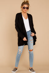 1 Towards The Cabin Black Cardigan at reddressboutique.com
