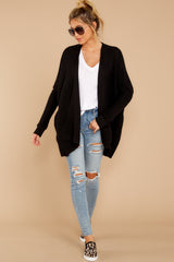 2 Towards The Cabin Black Cardigan at reddressboutique.com
