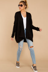 3 Towards The Cabin Black Cardigan at reddressboutique.com