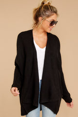 5 Towards The Cabin Black Cardigan at reddressboutique.com