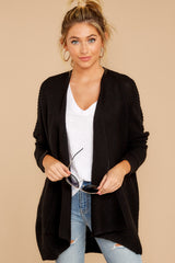 7 Towards The Cabin Black Cardigan at reddressboutique.com