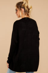 8 Towards The Cabin Black Cardigan at reddressboutique.com