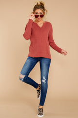1 The Mesa Red Waffle Split Neck Thermal at reddress.com