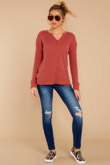 2 The Mesa Red Waffle Split Neck Thermal at reddress.com