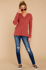 3 The Mesa Red Waffle Split Neck Thermal at reddress.com