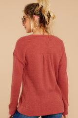 7 The Mesa Red Waffle Split Neck Thermal at reddress.com