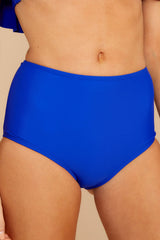 1 Coast Is Clear Blue Bikini Bottom at reddressboutique.com