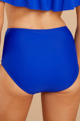 2 Coast Is Clear Blue Bikini Bottom at reddressboutique.com