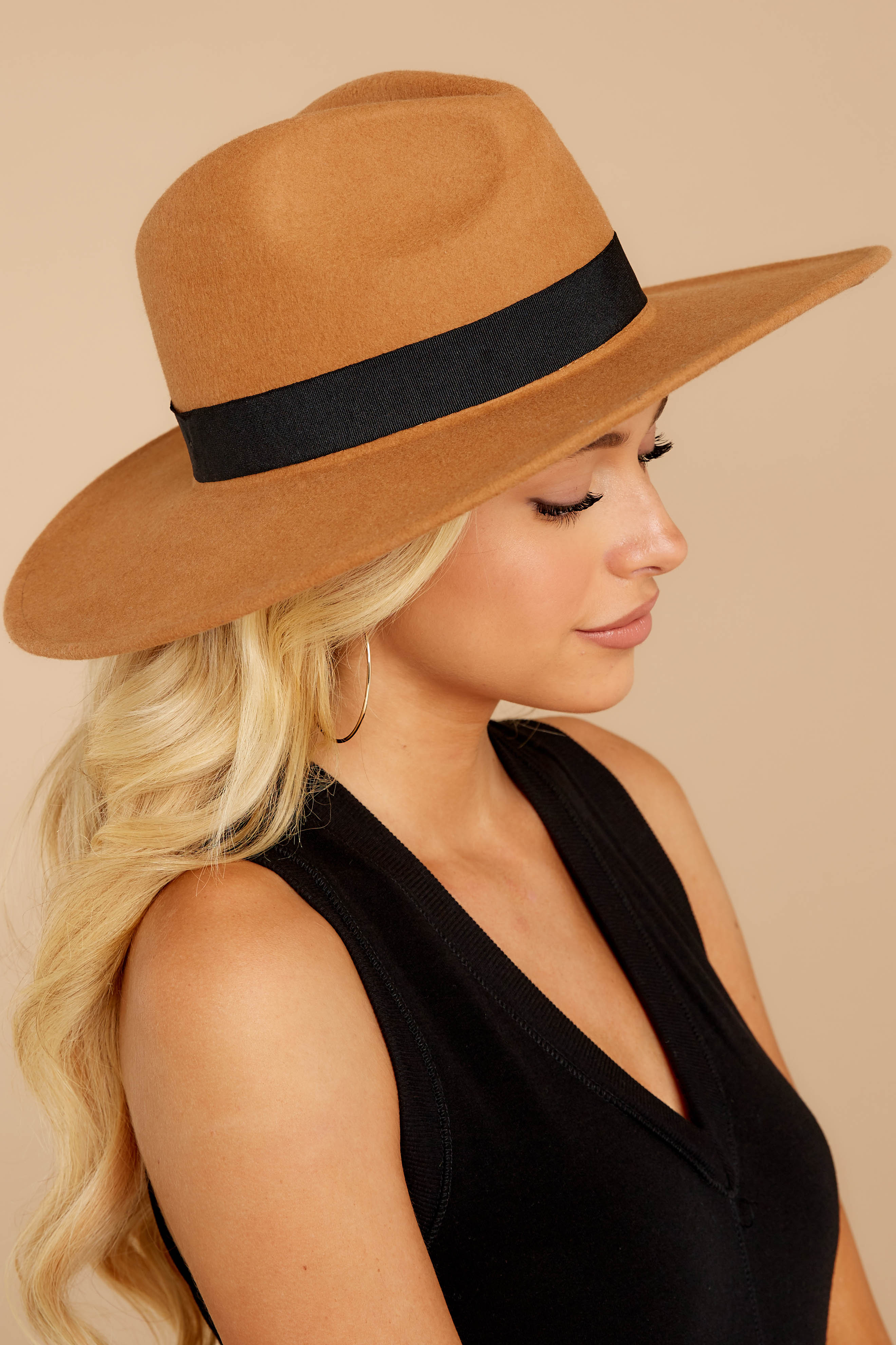 1 Take Me Walking Tan Hat at reddressboutique.com
