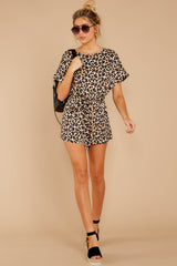 3 Chasing Chic Light Leopard Print Romper at reddress.com
