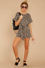 1 Chasing Chic Light Leopard Print Romper at reddressboutique.com