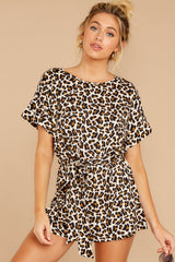 4 Chasing Chic Light Leopard Print Romper at reddressboutique.com