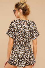 6 Chasing Chic Light Leopard Print Romper at reddress.com