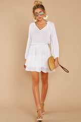 2 Somewhere New White Dress at reddressboutique.com