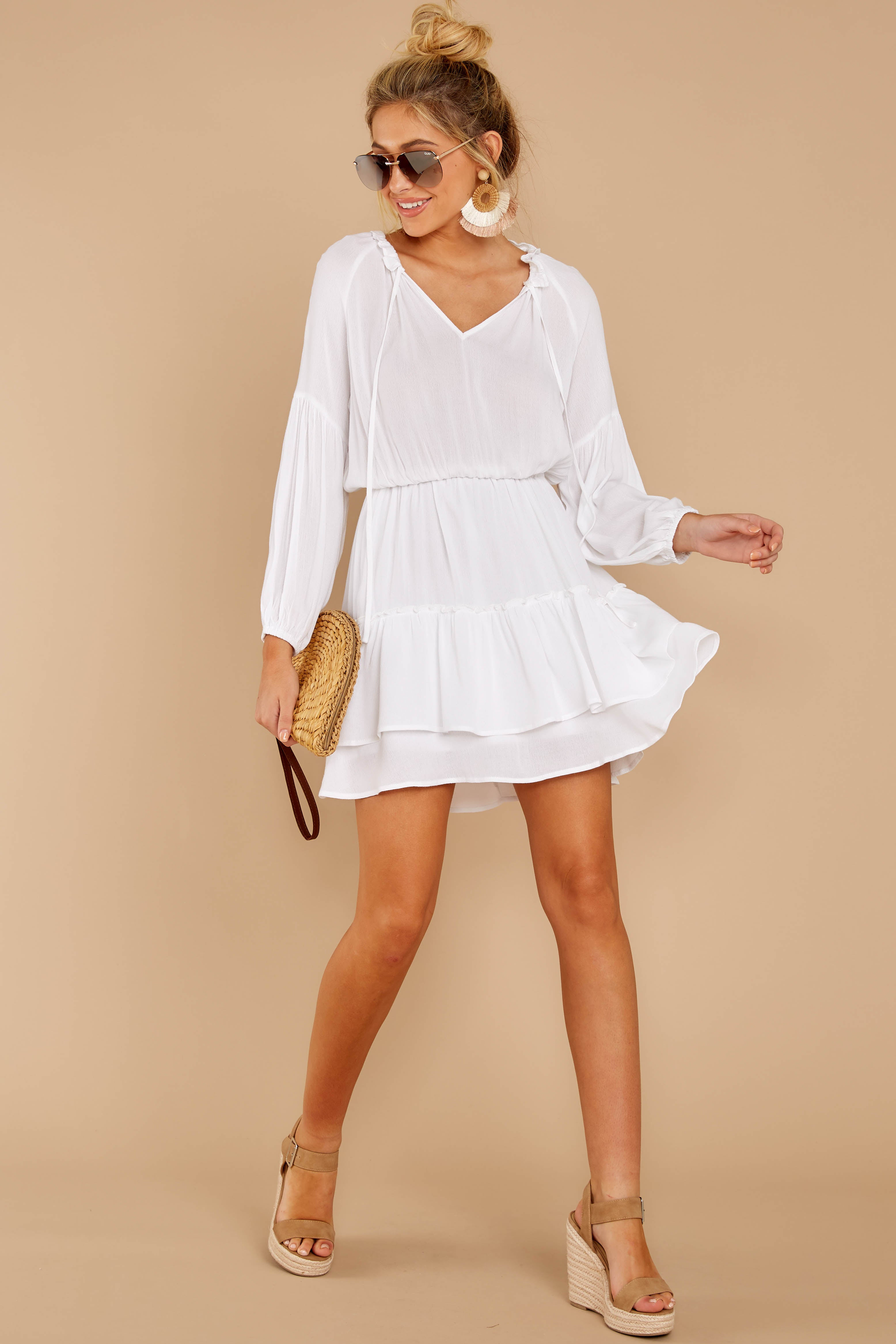 1 Somewhere New White Dress at reddressboutique.com