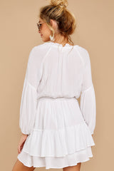 7 Somewhere New White Dress at reddressboutique.com